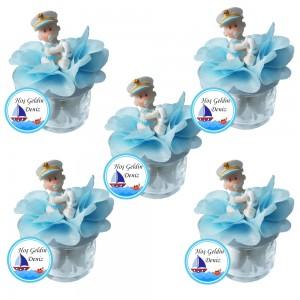 Denizci Biblolu Kavanozlu Bebek Şekeri ( Erkek )